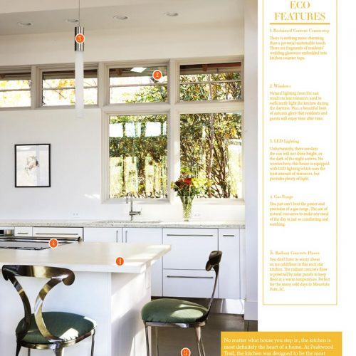 Organic boi magazine features Johnston Design Group Home