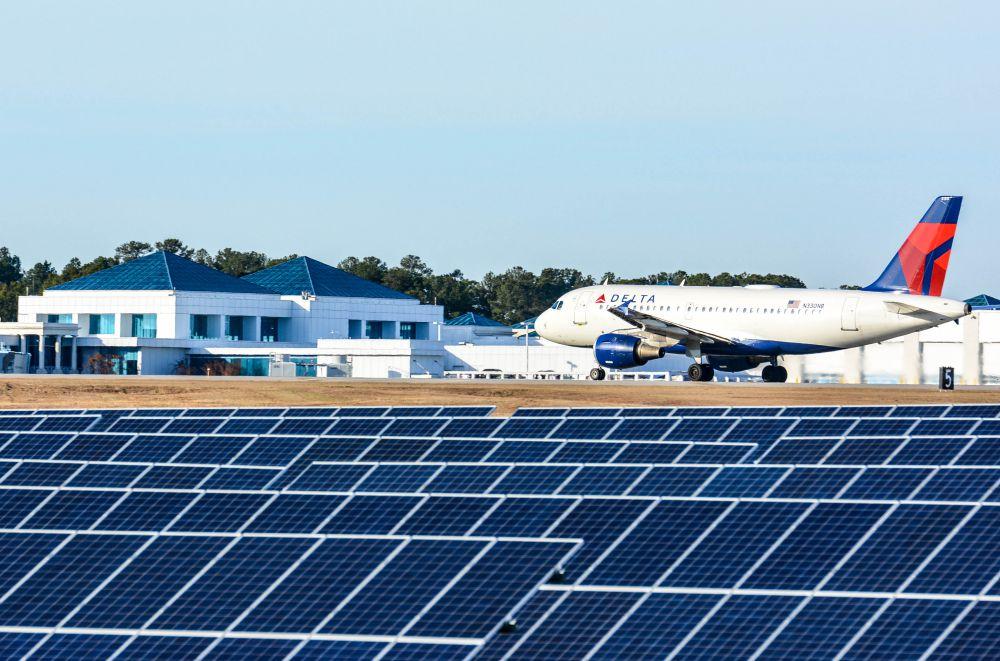 columbia SC airport solar