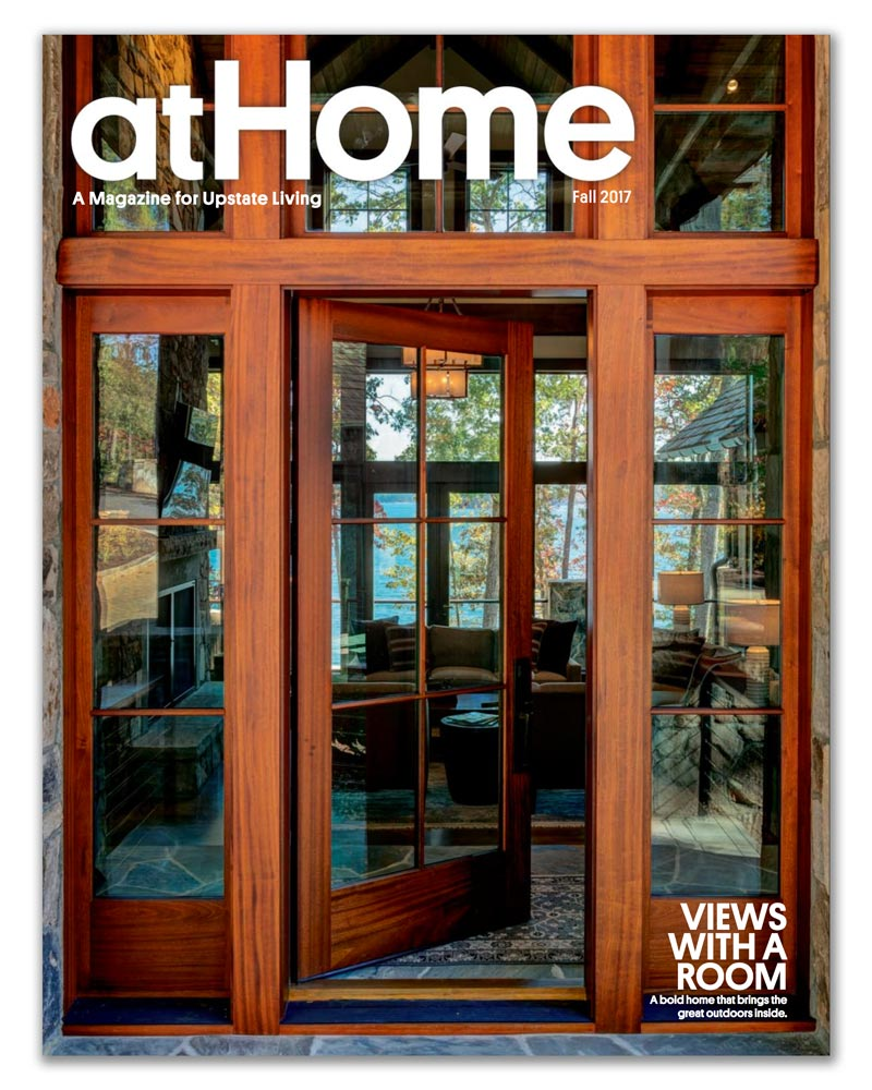 Johnston Design Group featured on cover of At Home magazine